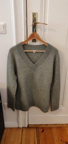 ARKET Pull en laine gris vert