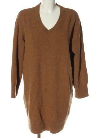 ARKET Swetrowa sukienka brązowy W stylu casual