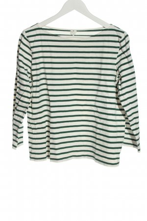 ARKET T-shirt rayé blanc-vert motif rayé style décontracté