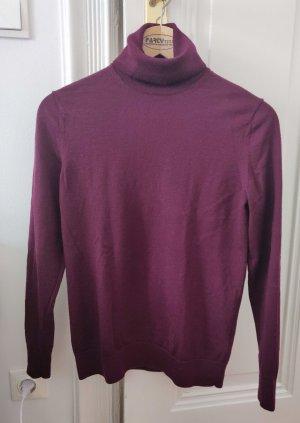 ARKET Sweter z golfem brązowo-fioletowy-ciemny fiolet