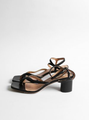 ARKET Roman Sandals black leather