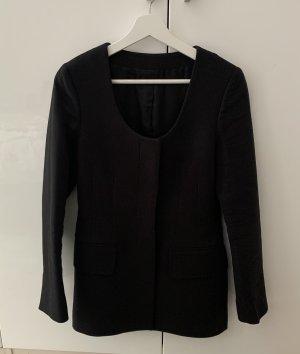 ARKET Klassischer Blazer black cotton