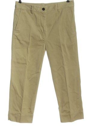 ARKET Spodnie materiałowe brązowy Wzór w paski W stylu casual