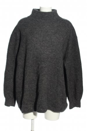 ARKET Knitted Sweater light grey flecked casual look