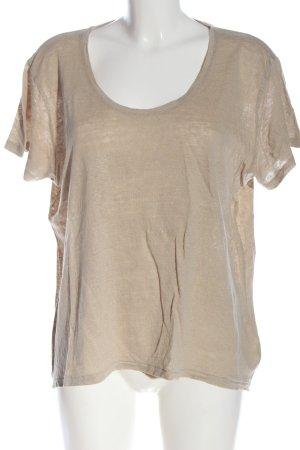 ARKET T-shirt kremowy Melanżowy W stylu casual