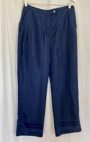 ARKET Spodnie materiałowe ciemnoniebieski-niebieski Włókno octanowe