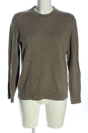 ARKET Wool Sweater khaki flecked casual look