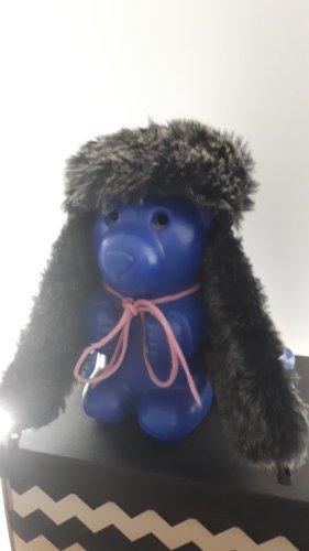 Fur Hat black-light grey