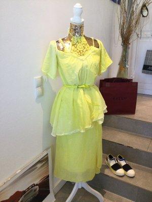 Arlette Kaballo Blouse à manches courtes jaune fluo
