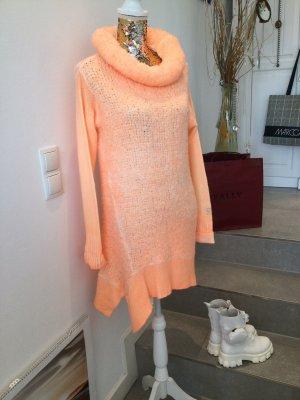 Arlette Kaballo Długi sweter brzoskwiniowy-jasny pomarańczowy
