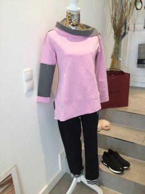 Arlette Kaballo Długi sweter różowy-szary