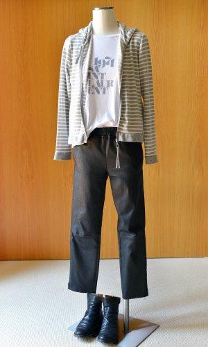 ARMA Pantalone in pelle nero Pelle