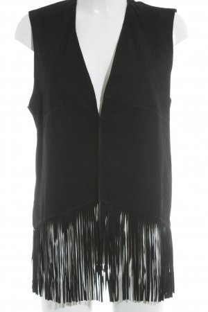 Arma Collection Fringed Vest black casual look