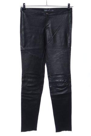 Arma Collection Pantalon en cuir noir style mouillé