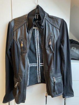 Arma Collection Veste en cuir noir