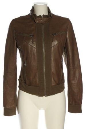 Arma Collection Veste en cuir brun style décontracté