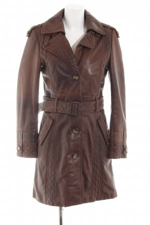 Arma Collection Leather Coat brown casual look