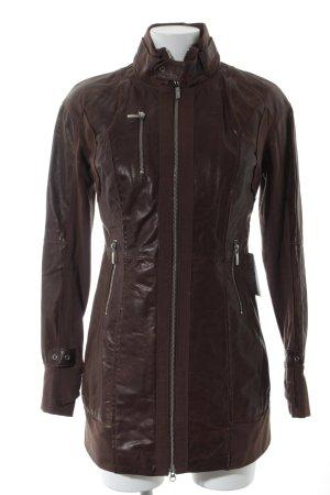"""Arma Collection Manteau en cuir """"Ester"""" brun foncé"""