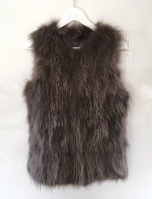 Arma Collection Fur vest dark brown-grey brown