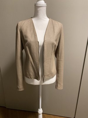 Arma Collection Leather Jacket beige-oatmeal