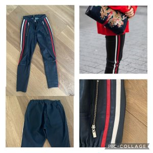 Arma Collection Skórzane spodnie ciemnoniebieski
