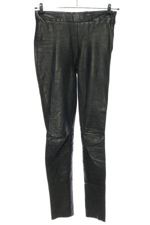 ARMA Leren broek zwart casual uitstraling