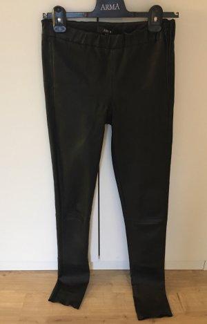 Arma Collection Pantalon en cuir noir cuir