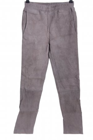 ARMA Leather Trousers light grey casual look