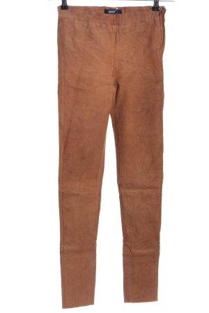 ARMA Pantalon en cuir brun style décontracté