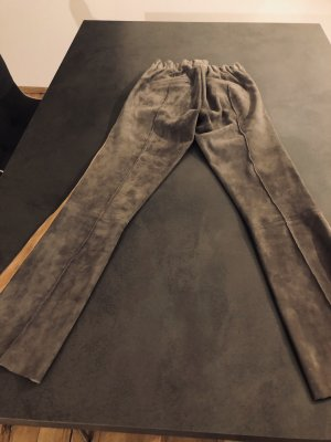 ARMA Leather Trousers black-grey