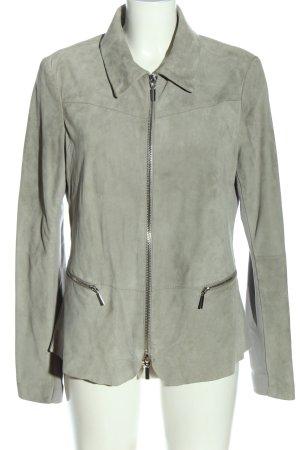 ARMA Veste en cuir gris clair style décontracté