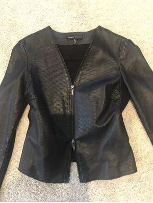 Arma Collection Veste en cuir noir cuir