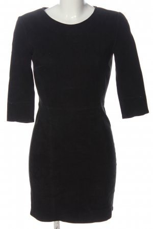 ARMA Skórzana sukienka czarny W stylu casual