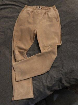 ARMA Skórzane spodnie brzoskwiniowy-różany Skóra