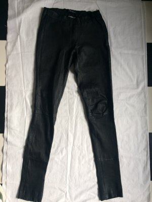 Arma Women Leather Trousers black leather