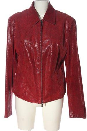 Arma Women Veste en cuir rouge motif animal style décontracté