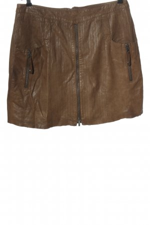 Arma Women Leather Skirt brown casual look