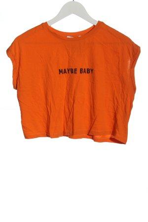 armalife T-shirt court rouge-noir imprimé avec thème style décontracté