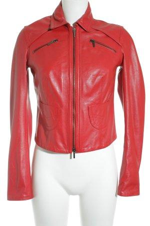 Arman d' Armand Natural Leather Lederjacke rot Biker-Look
