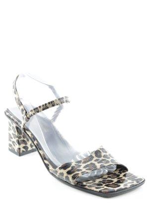 Armando Pollini High Heel Sandaletten Animalmuster Casual-Look