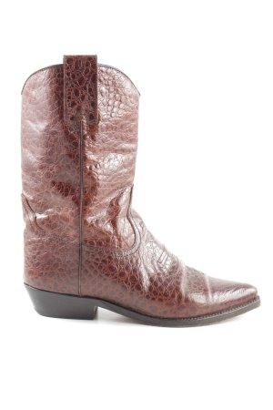 Armando Pollini Boots western brun motif animal élégant
