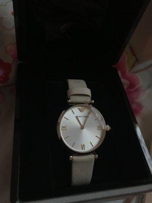 Emporio Armani Horloge met lederen riempje veelkleurig