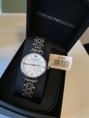 Emporio Armani Reloj con pulsera metálica color plata-blanco