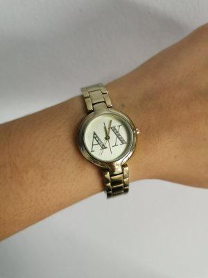 Armani Exchange Watch With Metal Strap gold-colored