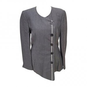 Armani Tuxedo Blazer light grey-silver-colored cotton