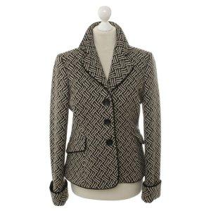 Armani Collezioni Blazer en laine noir laine