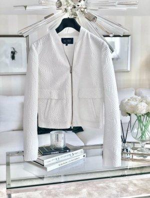Armani Bluzon biały Tkanina z mieszanych włókien