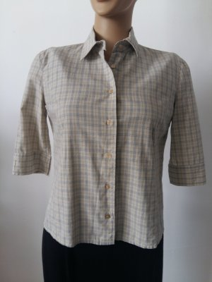 Armani Jeans Checked Blouse oatmeal cotton