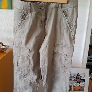 Armani Cargo Pants oatmeal-grey brown cotton