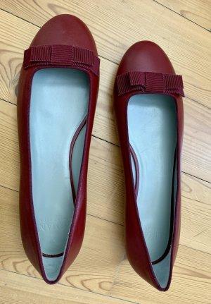 Armani Collezioni Mary Jane Ballerinas dark red-carmine leather